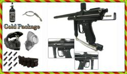 Autococker Trilogy Competition Select Fire Complete Paintball Package Gold